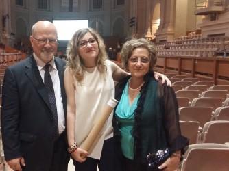 Chiara Cilardo con il padre Agostino e la mamma Anna Teresa