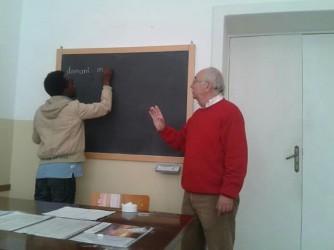 Alfredo Passante durante una delle sue lezioni