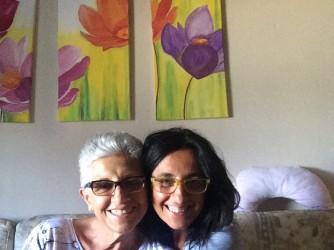 Dina con sua madre Lucia