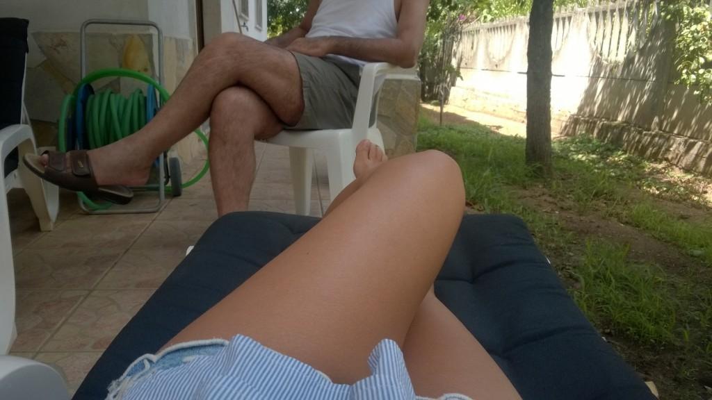 I. con suo padre questa estate