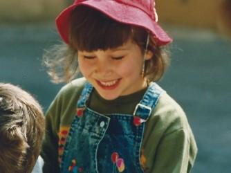 I. in una foto da bambina, quando tutto pareva ancora possibile