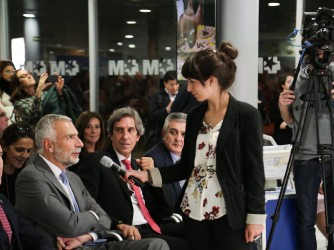 Nadia durante un'intervista