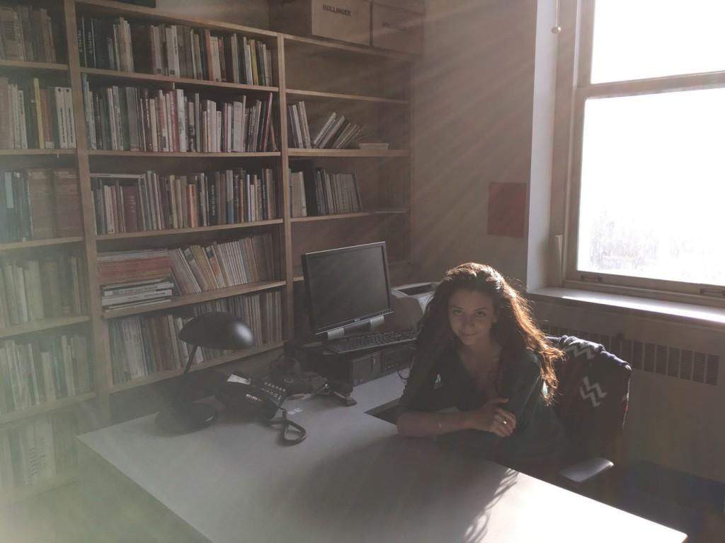 Eloisa Morra nel suo studio a Toronto