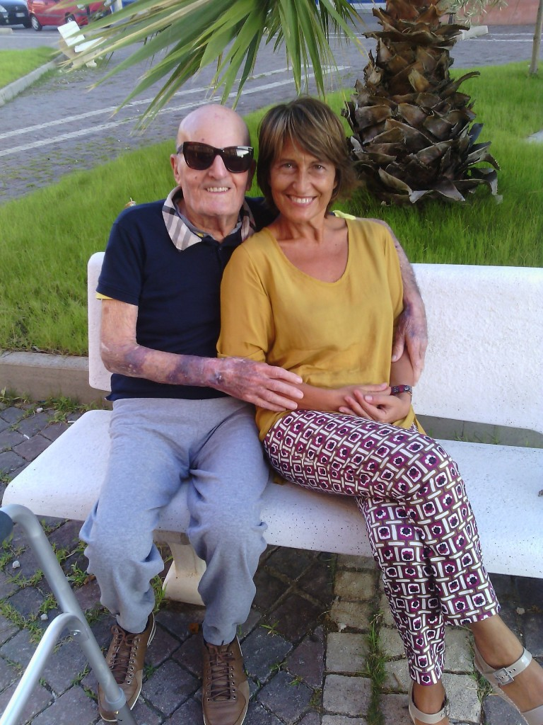 Maria Paola con il padre