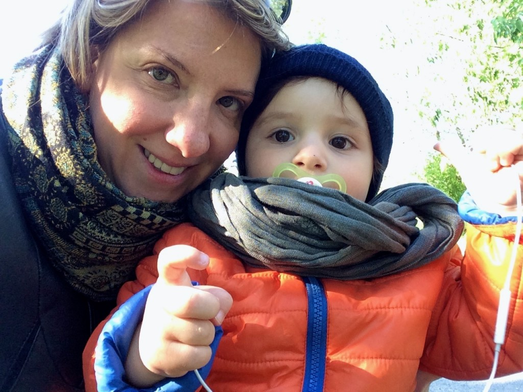 Silvia con suo figlio Lorenzo