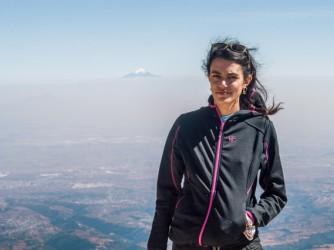 Maria durante una gita in montagna