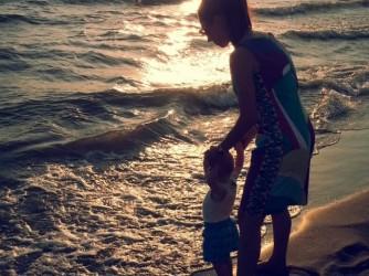 Chiara con il primo figlio