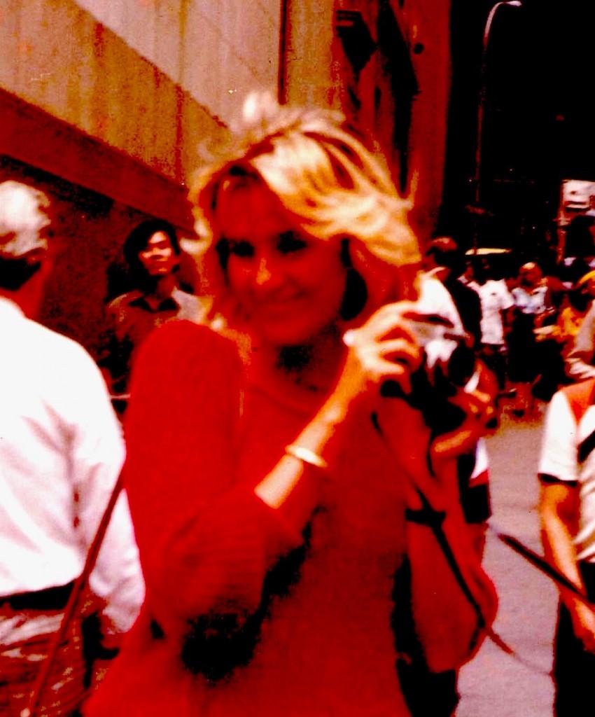 Una foto di Franca che risale a una trentina di anni fa