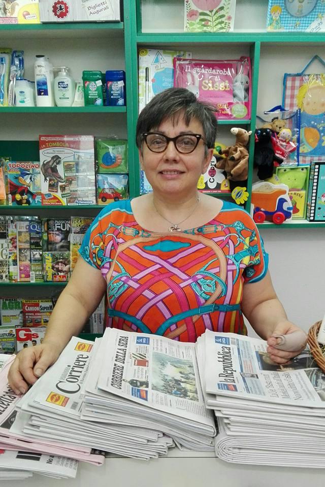Giuliana nella sua edicola di Imola