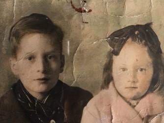 """Gli """"orfani di guerra"""" Gianni e Annamaria, zio e madre di Roberta"""
