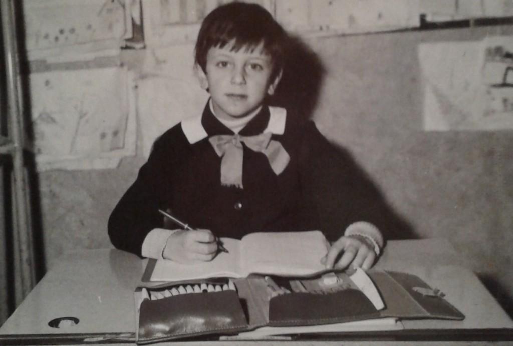 Angelo il primo giorno di scuola, I A, maestra Laffranchi