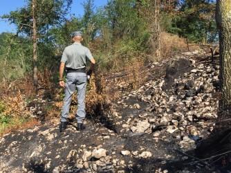 Il nostro lettore sul luogo di un incendio