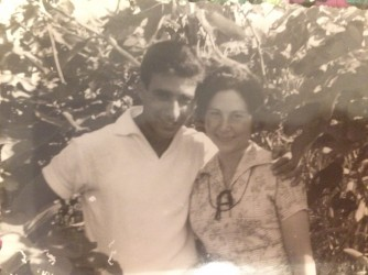 Francesco e Iolanda a Ventotene quando erano fidanzati