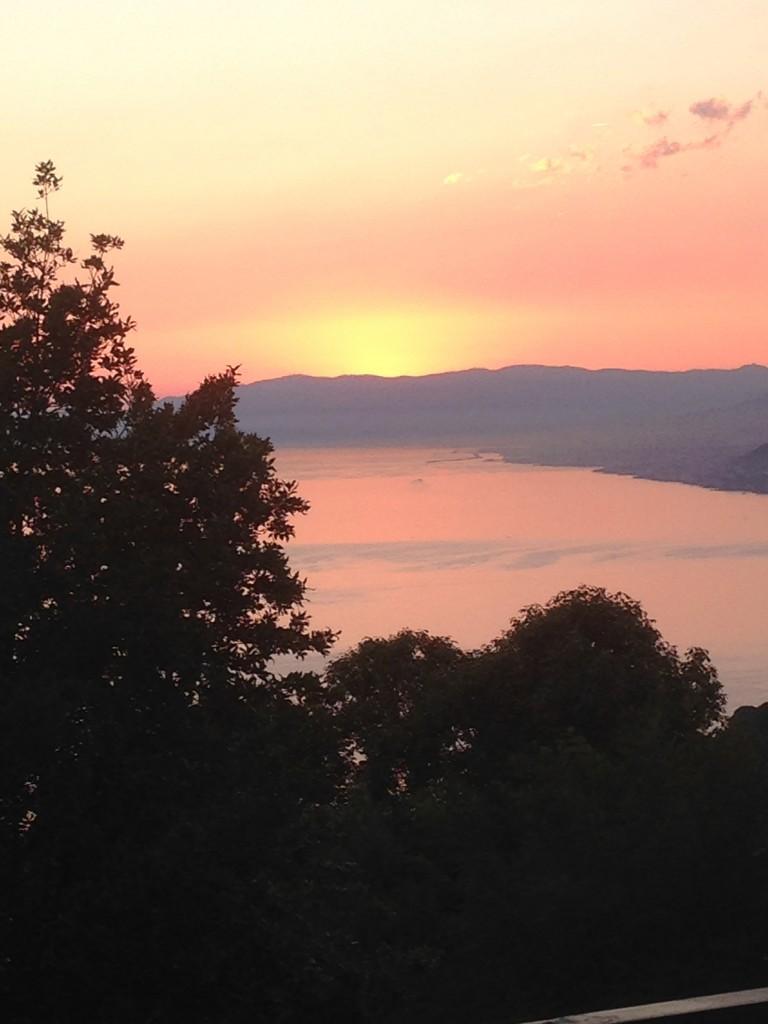 Quello che Serena vede al tramonto dal suo luogo speciale