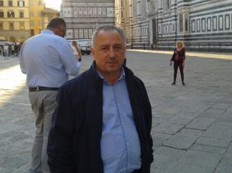 Salvatore durante un viaggio a Firenze