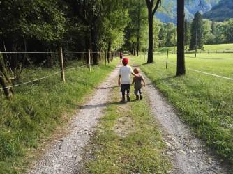 """Per Lisa questa è un'immagine molto simbolica: """"Ecco i miei figli in cammino"""", dice"""