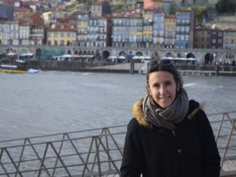 Eleonora durante il suo Erasmus in Portogallo