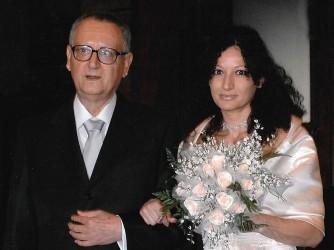 Francesca con il padre Giorgio