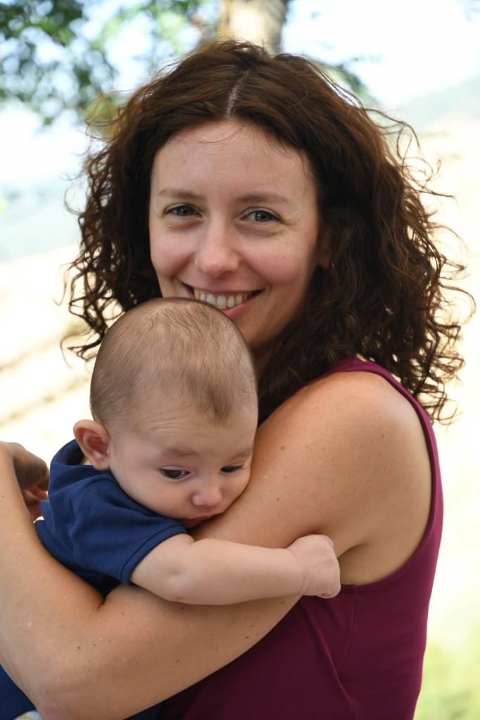 Marta con suo figlio Leonardo