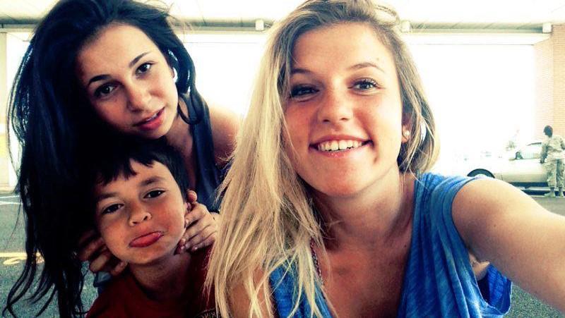 I figli di Letizia, Camilla Cosimo e Valentina, in una foto di qualche anno fa