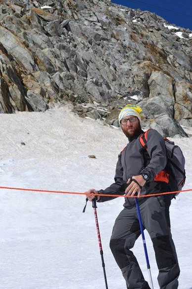 Luca ama la montagna e teme il cambiamento climatico