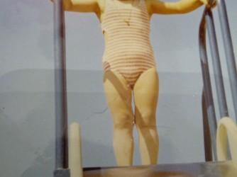 Cristina in una foto di tanti anni fa quando la malattia non si era ancora manifestata