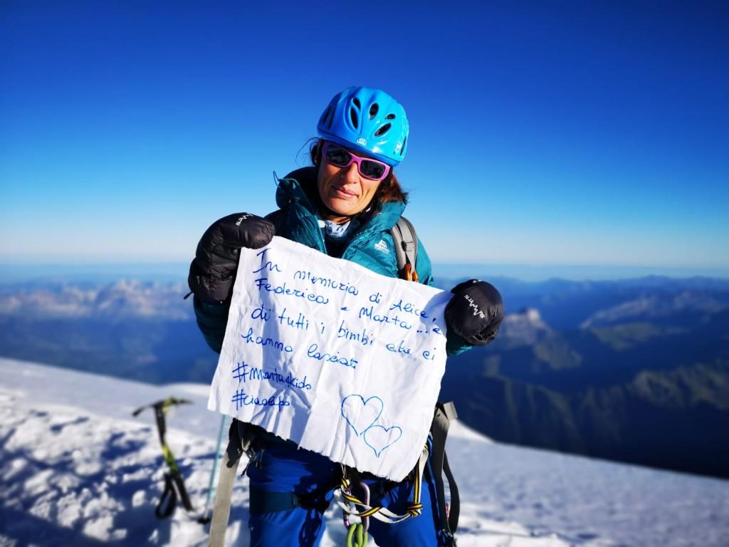 Ilaria il 26 agosto in vetta al Monte Bianco