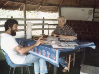 Bona nel 1984 con il sindaco del Rio Grande do Norte
