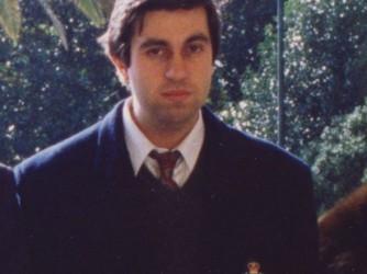 Claudio il giorno della laurea, nel gennaio del 1992