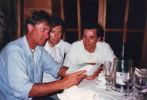 Francesco Battiston e Giancarlo Ridolfo con me al Bancut negli anni del successo di Condor 50