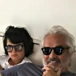 Nathan Falco Briatore col padre Flavio