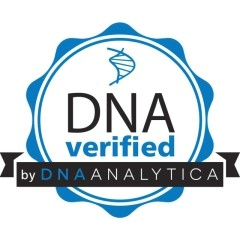 Il marchio 'DNA verified by DNA Analytica'.