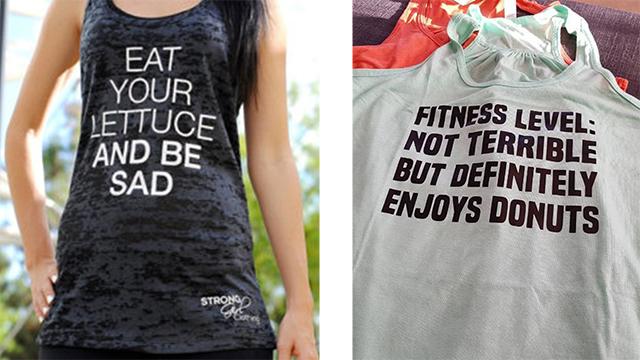 magliette sul cibo