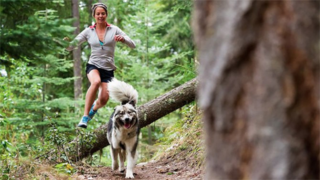 Correndo con il cane