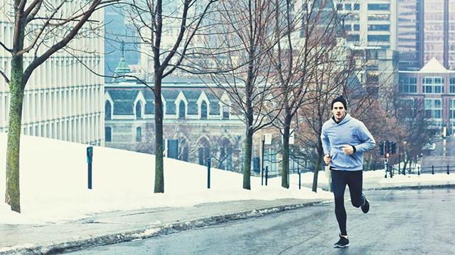 correre al freddo