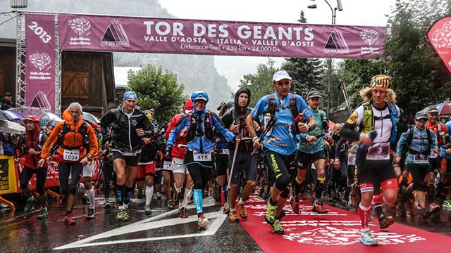 partenza Tor des Geants