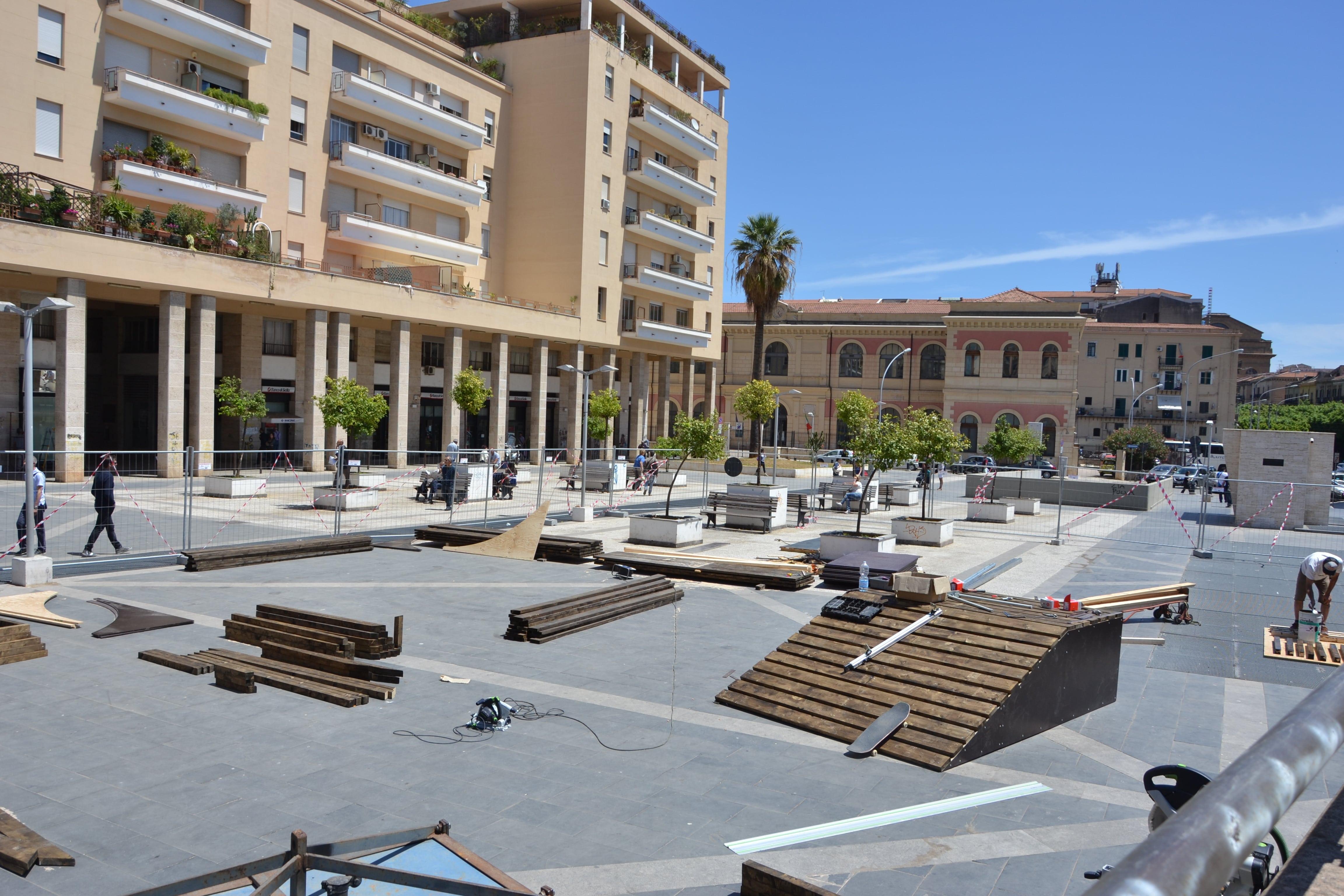 Prende forma il primo skatepark di palermo di fronte al tribunale underground blog palermo - Le finestre di fronte ...