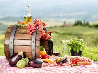 Italian food outdoors