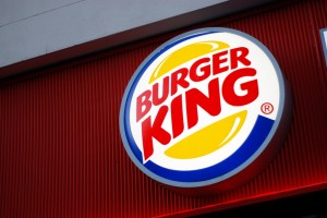 Sign of Burger King in Liverpool
