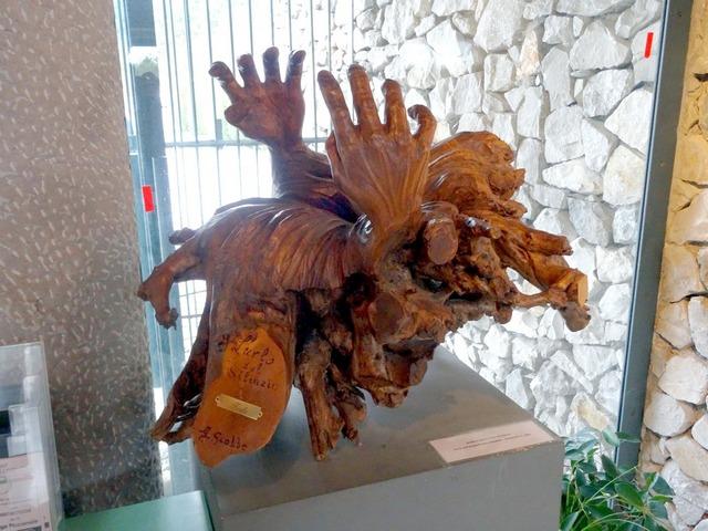"""""""L'urlo del silenzio"""", scultura commemorativa presso il museo delle Foie di Basovizza"""