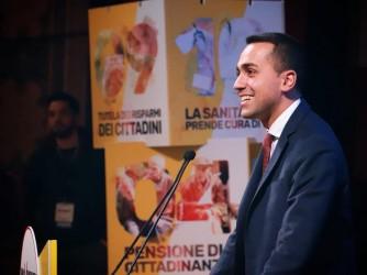 Luigi Di Maio ieri a Palermo, ultima tappa prima di venerdì 2 marzo a piazza del Popolo a Roma