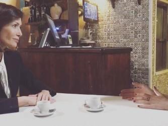 Mara Carfagna intervistata dalla giornalista della Bbc Sofia Bettiza