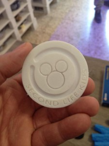 topolino d'oro stampa 3D
