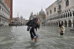 Venezia, acqua alta, autunno 2012