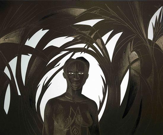 Il bozzetto di Kara Walker per 'Black Norma'
