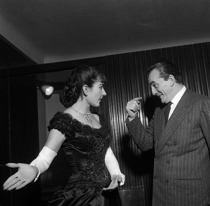 Maria Callas e Luchino Visconti (foto di Erio Piccagliani)
