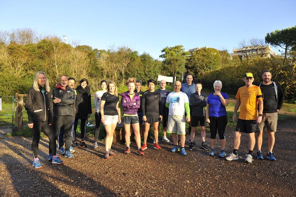 il gruppo di corsa del sabato mattina alla Caffarella - Foto Gianni Marchese per Fotoincorsa