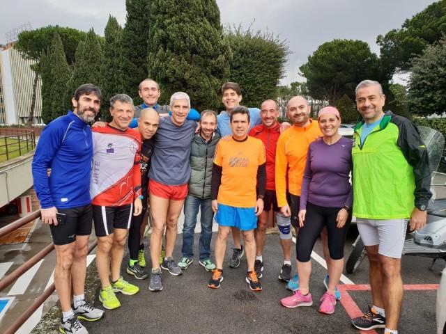 Il gruppo di colleghi di Wind Tre di Roma