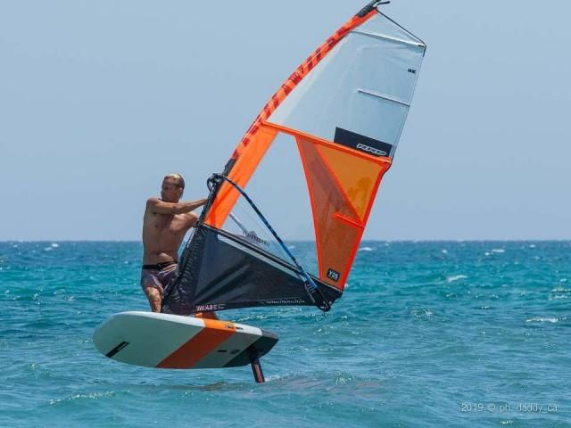 Paolo Migliorini in azione sul Foil Surf