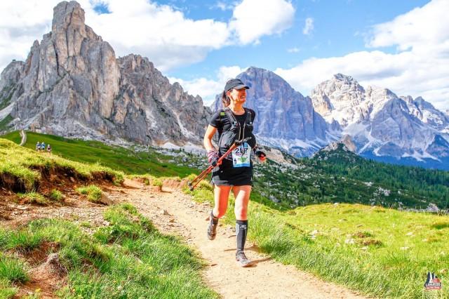 Valentina alla Lavaredo Ultra Trail del 2018